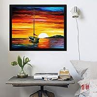 GUIGSI Imitation Oil Painting, Belle Decorazioni Domestiche della Pittura a Olio Stampate Pittura Senza Telaio Bella,Decorazione da Parete