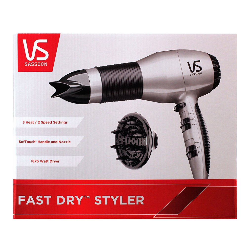 Vidal Sasson VS505 1875 W Turbo secador de secado rápido: Amazon.es: Belleza