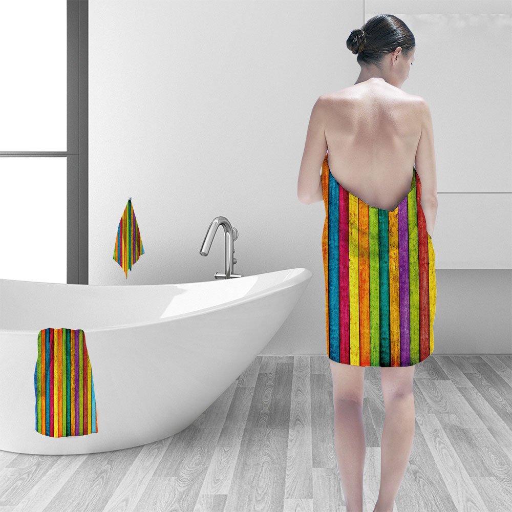 Nalahomeqq Hand towel set Grungy Wood Planks personality printPolyesternon-mildewpattern custom made19.7''x19.7''-13.8''x27.6''-31.5''x63''