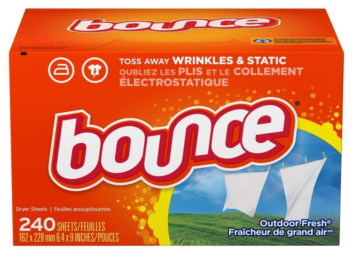 Bounce Fabric Softener Sheets, Outdoor Fresh, 240 Count (4 Pack(240 Count))