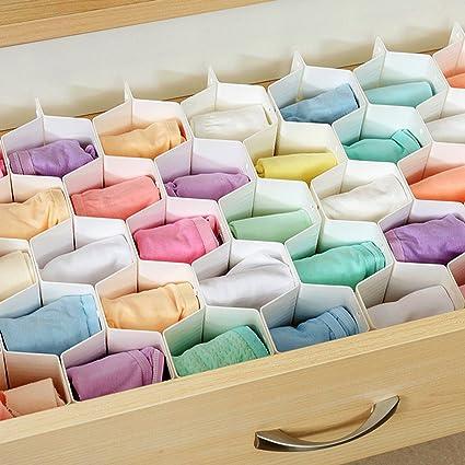 joysoul profundo plástico cajón organizador separadores 18 slotes para calcetines ropa interior joyas guantes medias calcetines