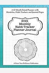 2021 Monthly Habit Tracker Planner Journal Paperback