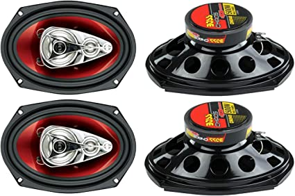 Pair Boss 6.5 Inch 300 Watt RMS 3-Way Car Coaxial Audio Stereo Speakers CH6530