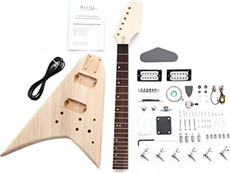 Rocktile 38311 - Kit de montaje para guitarra eléctrica estilo RR ...