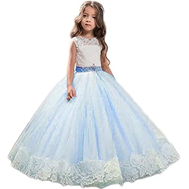 29205052910c Amazon.com  Magicdress Lace Flower Girls Dresses for Weddings Prom ...