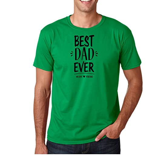 AW Fashions Best Dad Ever, We Love You Dad - Fathers Day Present Premium Mens