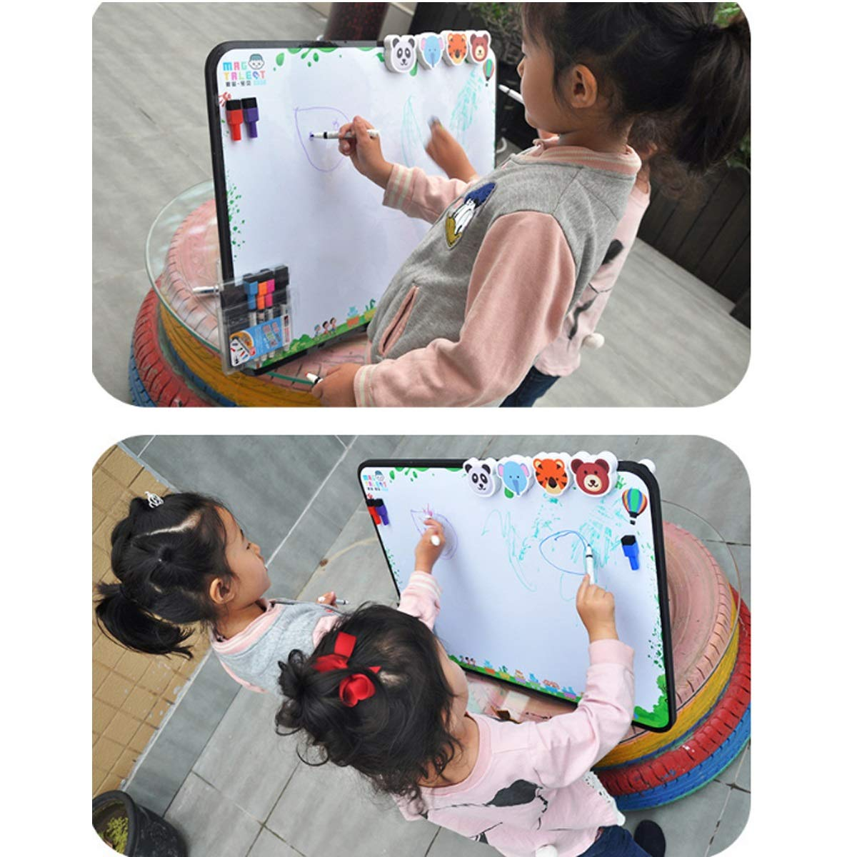 8haowenju Detachable Magnetic Multi-Function Portable Drawing Board, Writing Board, Note Board, Magnetic Photo Frame, Multi-Function Sketchpad (Size : F) by 8haowenju (Image #4)