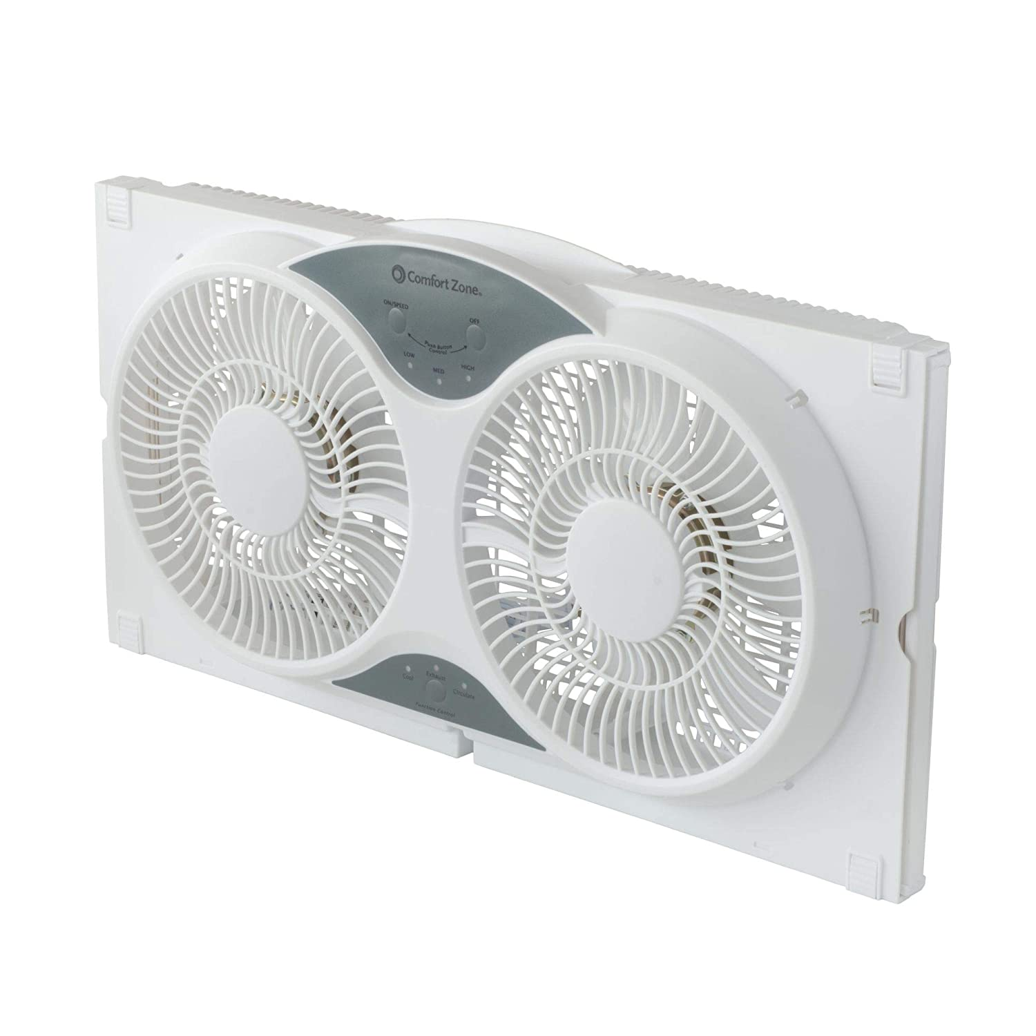 Comfort Zone Twin Window Fan With Remote 3 Speed High Velocity Motor Wiring Diagram Also 98 05 Vw Beetle On Ceiling Reverse Dual Blade Fans Air Purifier Replacement Filters