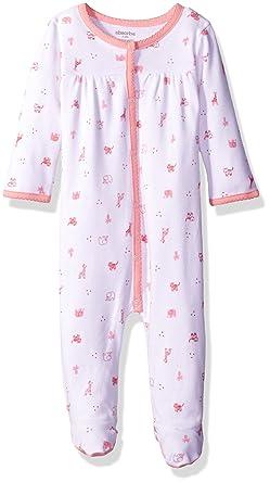9b33b6983aca Amazon.com  Newborn Girls Footie  Clothing