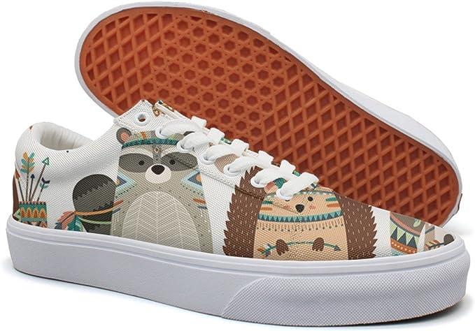 VCERTHDF Print Trendy Fashion Design Geometric Squares Low Top Canvas Sneakers