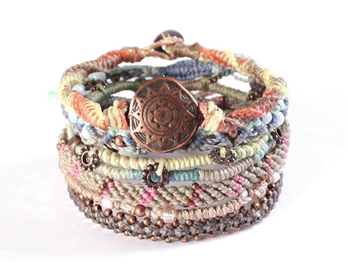 Wakami Women's Earth Bracelet With 7 Strands Day by Wakami
