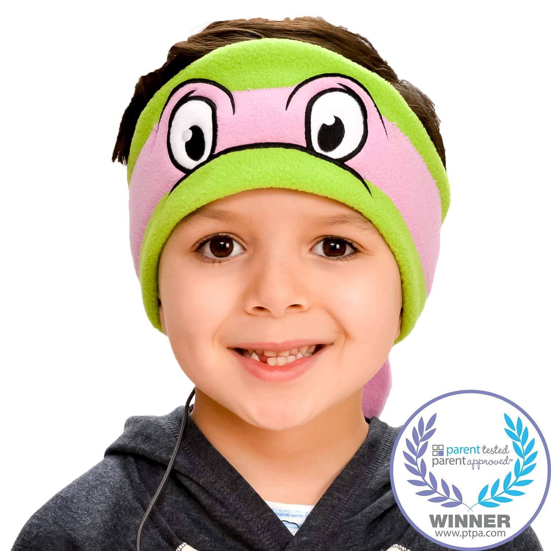Teenage Mutant Ninja Turtles Kids Headphones by CozyPhones - Volume Limited with Ultra-Thin Speakers & Soft Headband - Perfect Children's & Toddlers Earphones for School, Home & Travel – Donatello