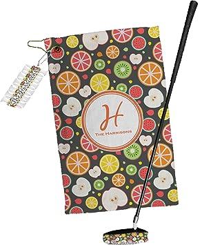 Manzanas y naranjas toalla de Golf Set de regalo (personalizado)