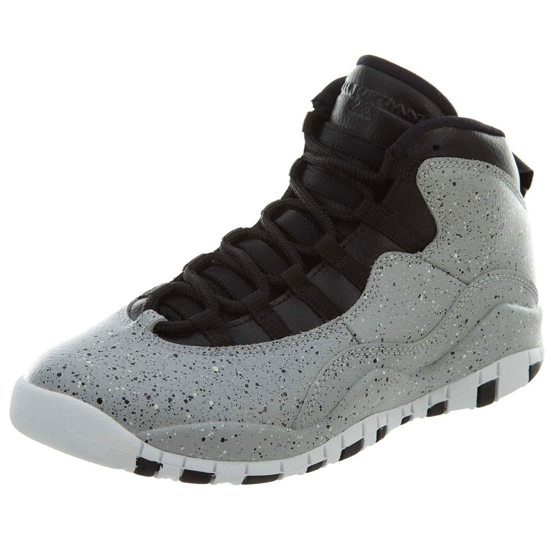 NIKE Kids Air Jordan Jordan Jordan 10 (GS) - Light Smoke - grau schwarz-Weiß Cement Größe Big Kids 6.5 4cfa4a