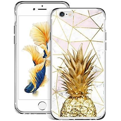 coque iphone 6 ananas doré