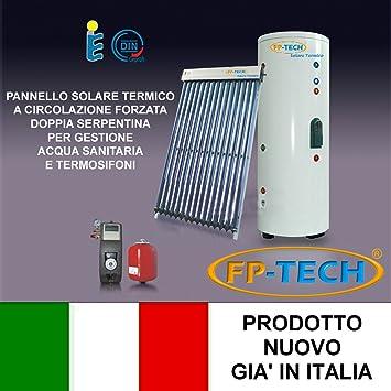 fp-tech – Panel solar térmico Heat Pipe presurizado 250 LT Circulación soldada acero inoxidable