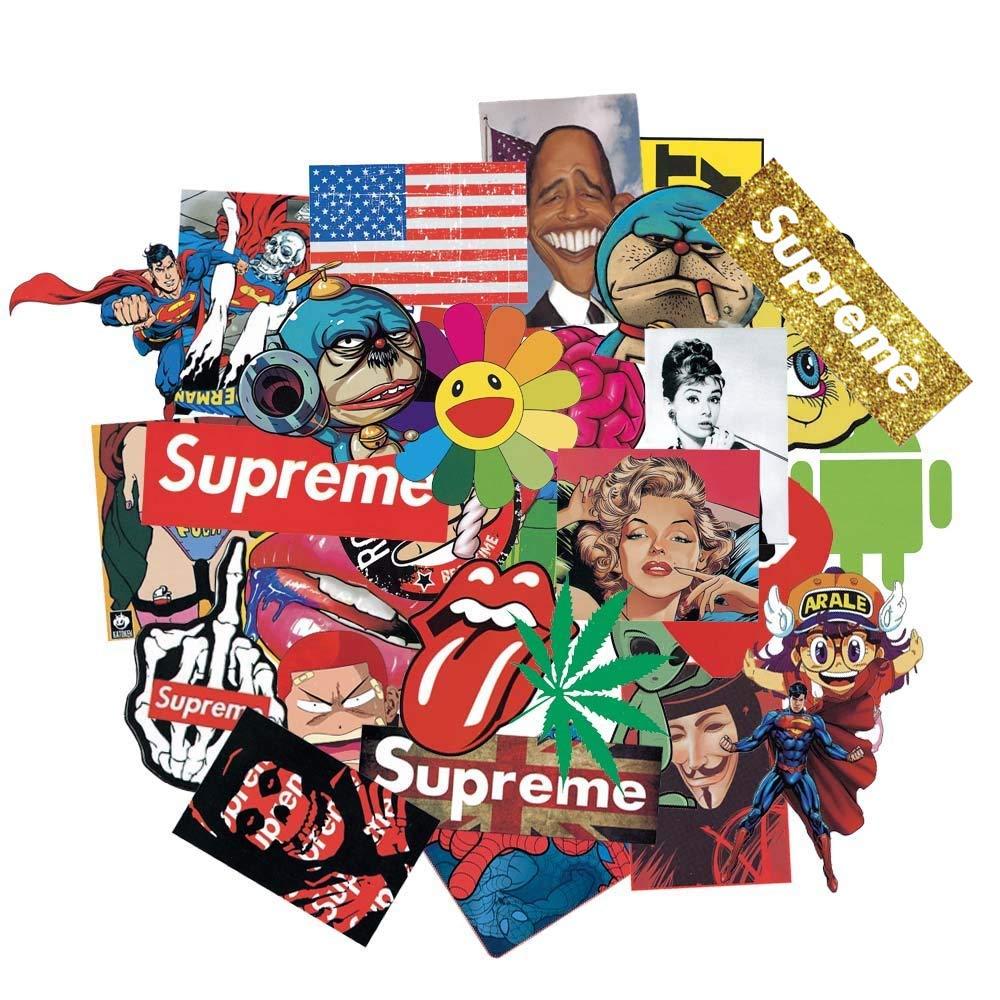 Stickers Calcos 100 un. Surtidos Origen U.S.A. (7122QDC1)