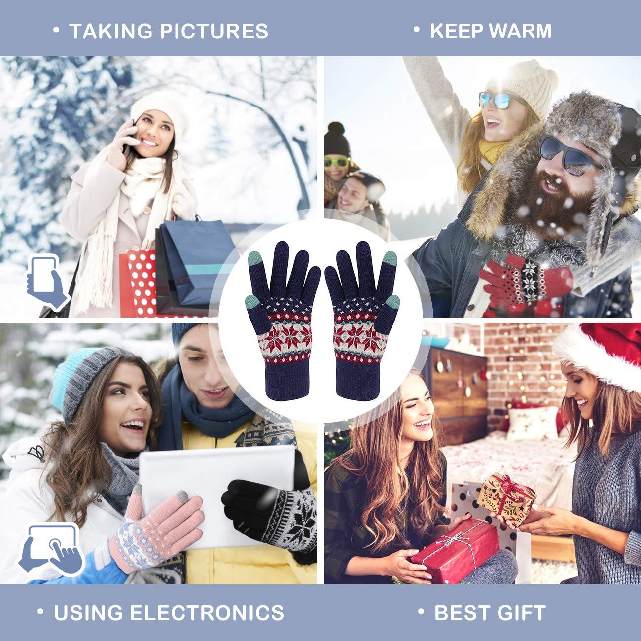 con polsino elastico Veni Masee per uomini e donne caldi termici e morbidi guanti invernali per touch screen