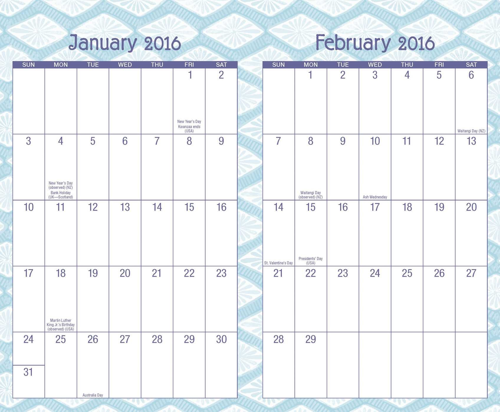 posh indigo 2015 2016 monthly weekly planning calendar kate spain