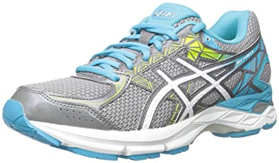 61cacf9b9c20 ASICS Women s Gel-Exalt 3 Running Shoe Aluminum White Aquarium 6.5 ...