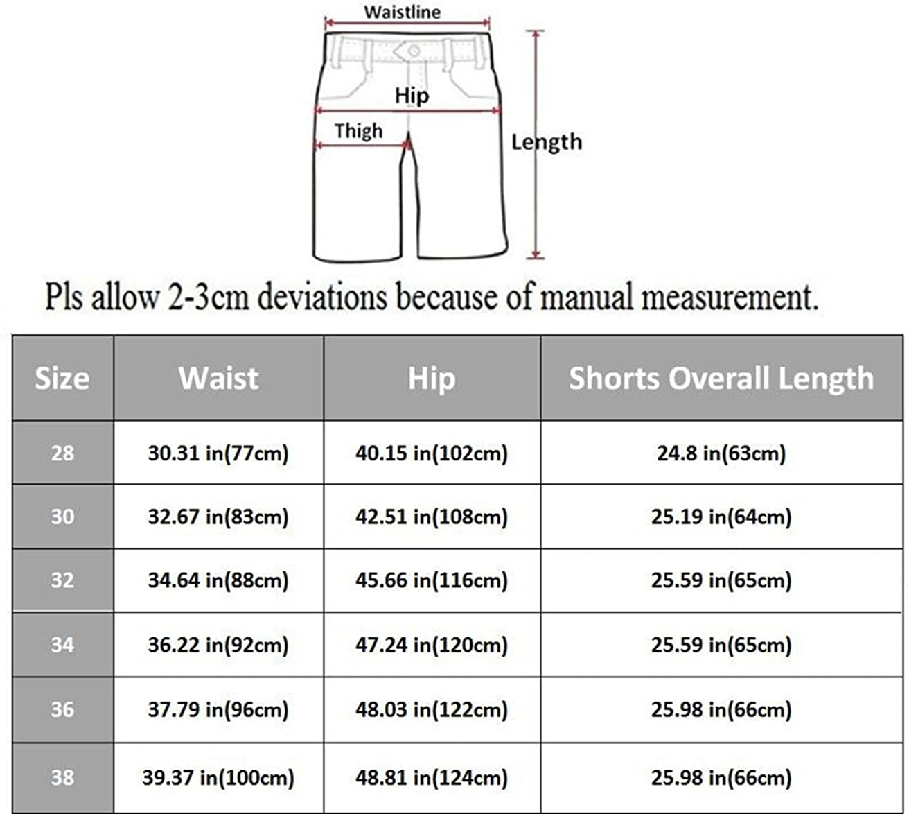 Osmyzcp Mens Casual Loose Fit Cargo Shorts Straight Multi-Pocket Cotton Outdoor Wear