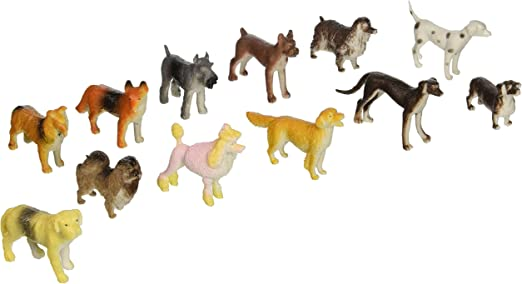 PARTY FAVORS  2 INCHES 24  SMALL PLASTIC DOGS CARNIVAL OR EDUCATIONAL TOYS
