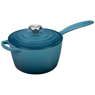 Le Creuset of America Enameled Cast Iron Sauce Pan, 2 1/4-Quart, Marine