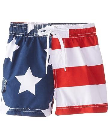 d6024f3fff Kanu Surf Baby Boys' American Flag Swim Trunk
