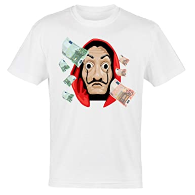 Camiseta de Hombre La Casa de Carta, máscara de Dalì, La ...