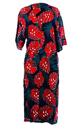 149c524d87 Corona Collection Banana Leaf Print Kimono Beach Cover up Navy Blue ...