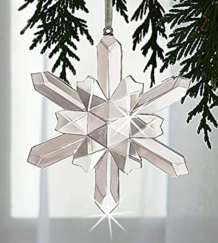 c26f0eb1e Amazon.com: The Paragon Crystal Snowflake Ornament - Handcrafted ...