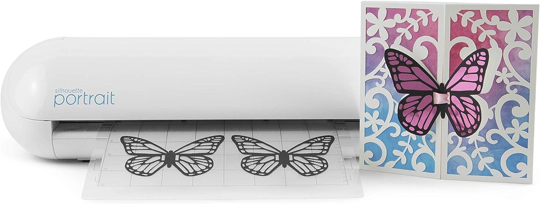 Portrait Silhouette Cortadora electrónica, Color Blanco: Amazon.es: Hogar