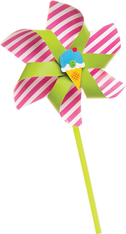 Handheld Windmill Craft Sets for Kids Pack of 6 Baker Ross Make Your Own Pinwheel Kit