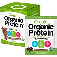 Orgain Organic Plant Based Protein Powder Travel Pack, Creamy Chocolate Fudge - Vegan, Low Net Carbs, Non Dairy, Gluten…