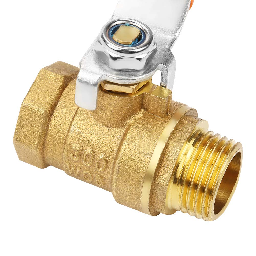 Pipe Ball Valve Shut-Off Practical Tube Ball Valve Replacement for Industrial Accessories Industria Hardwarel