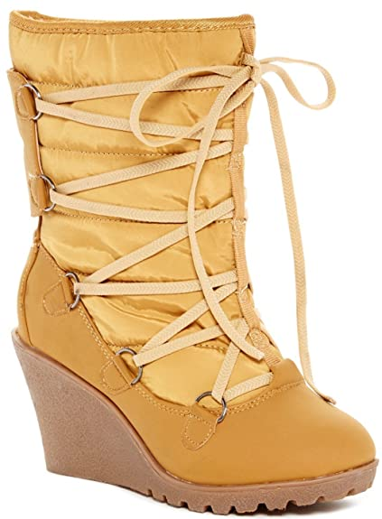Carrini CA Collection Women's Fashion Lace Up Booties, Size