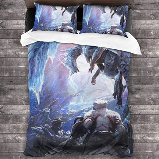 "Amazon.com: Mon-Ster Hu-nter World 3-Piece Bedding Set Superfine Fiber  Fabrics Twin Size Bedding Article 86""x70"": Kitchen & Dining"