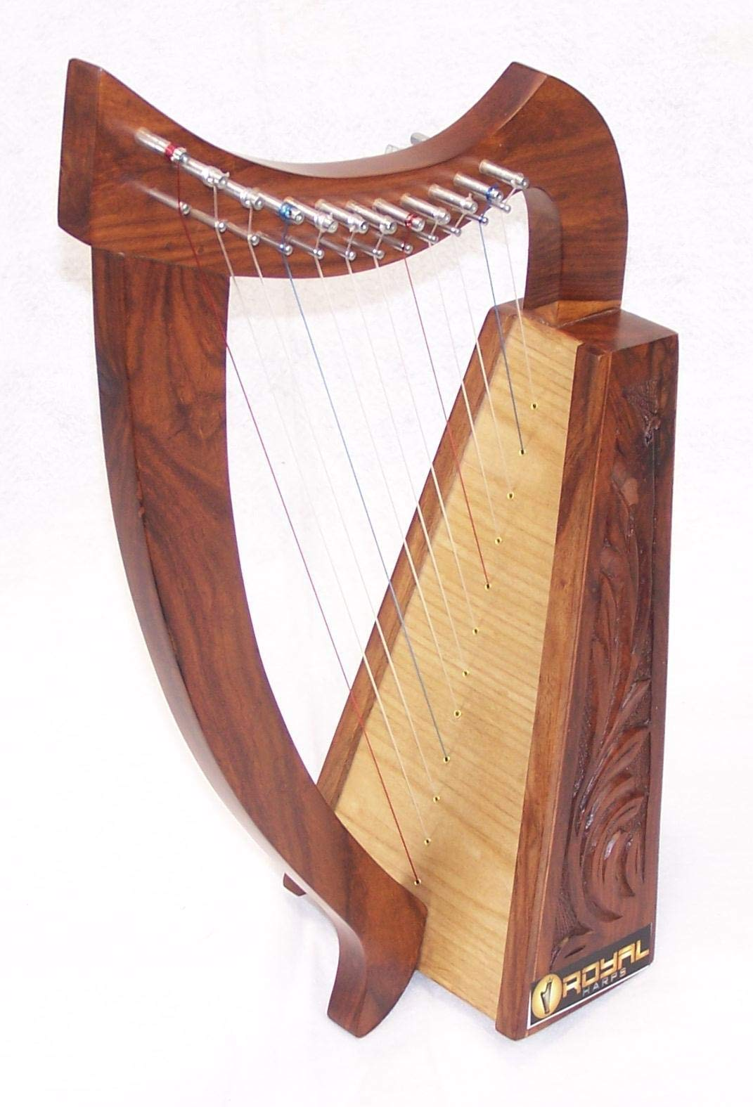 Celtic Irish Baby Harp 12 Strings Solid Wood Free Bag Strings Key by ROYAL HARPS