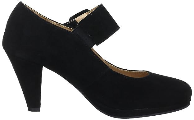 0595422 - Zapatos de tacón de cuero para mujer, Negro (Nero (Schwarz (schwarz 002))), 36 Andrea Conti