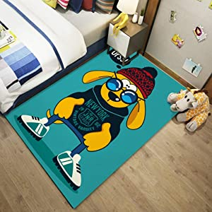 BCK Cute Pattern Accent Rug Kitchen Rugs Non Skid Accent Bedroom Area Carpet 10.28 (Color : F, Size : 120CMX160CM)