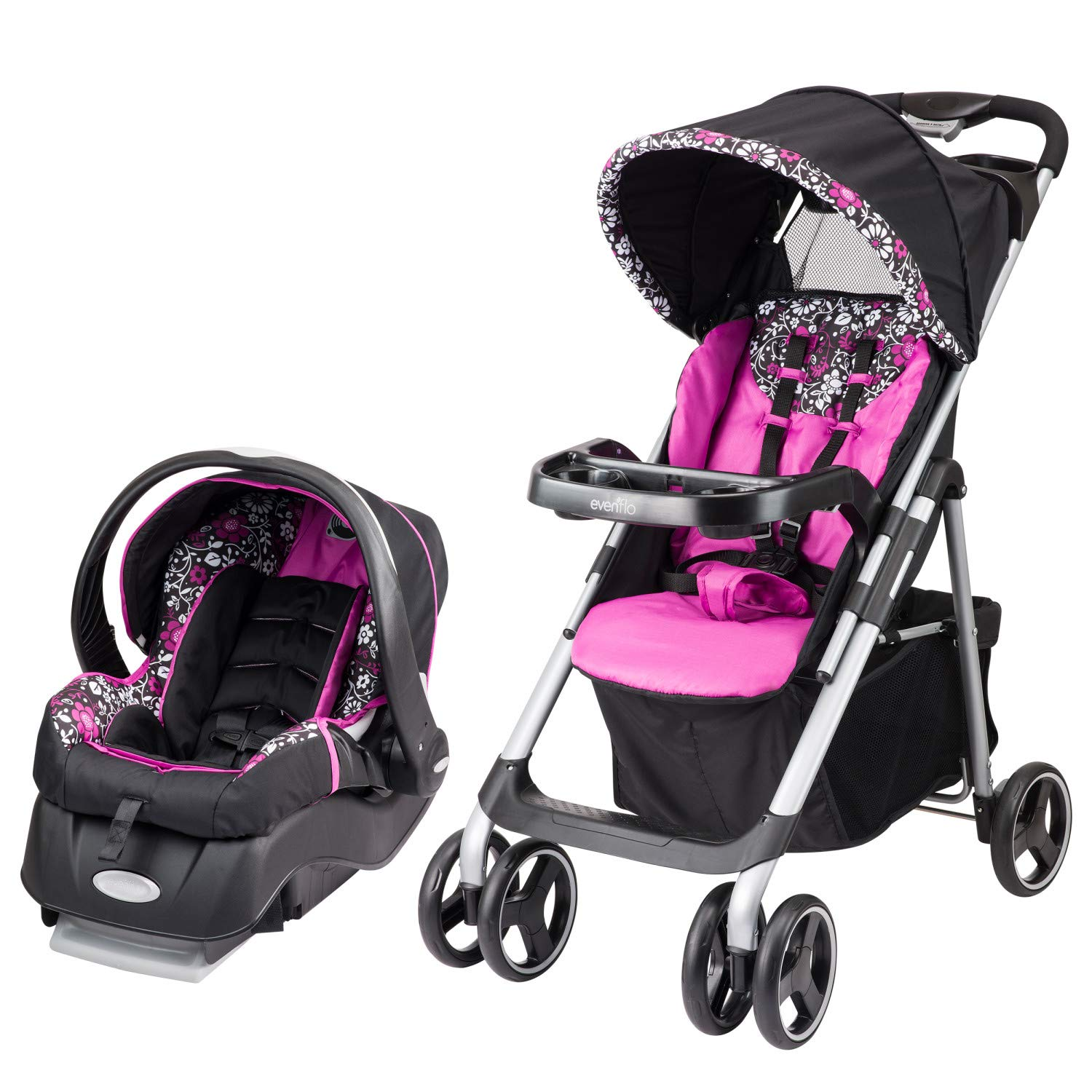 Evenflo Vive Travel System with Embrace Infant Car Seat, Daphne by Evenflo