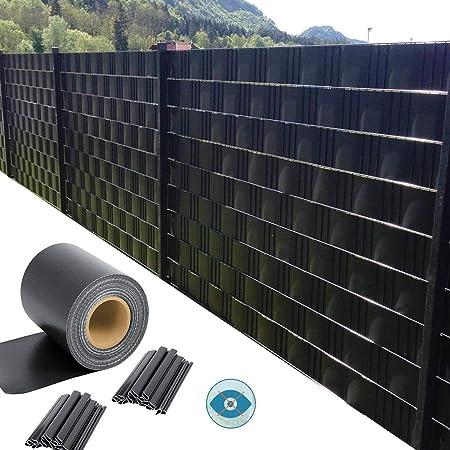 GDMING Pantalla De Valla De Privacidad para Terraza Balcón Vista 100% Bloqueada Protector Solar Impermeable PVC Cubre Vallas Jardín para Metálicas 20cm Incluye 40 Clips 450GSM: Amazon.es: Hogar