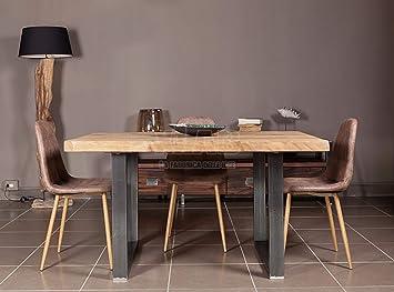 Xlab Design Tavolo in Legno Grezzo 140X85X75 Rovere Country Greg ...