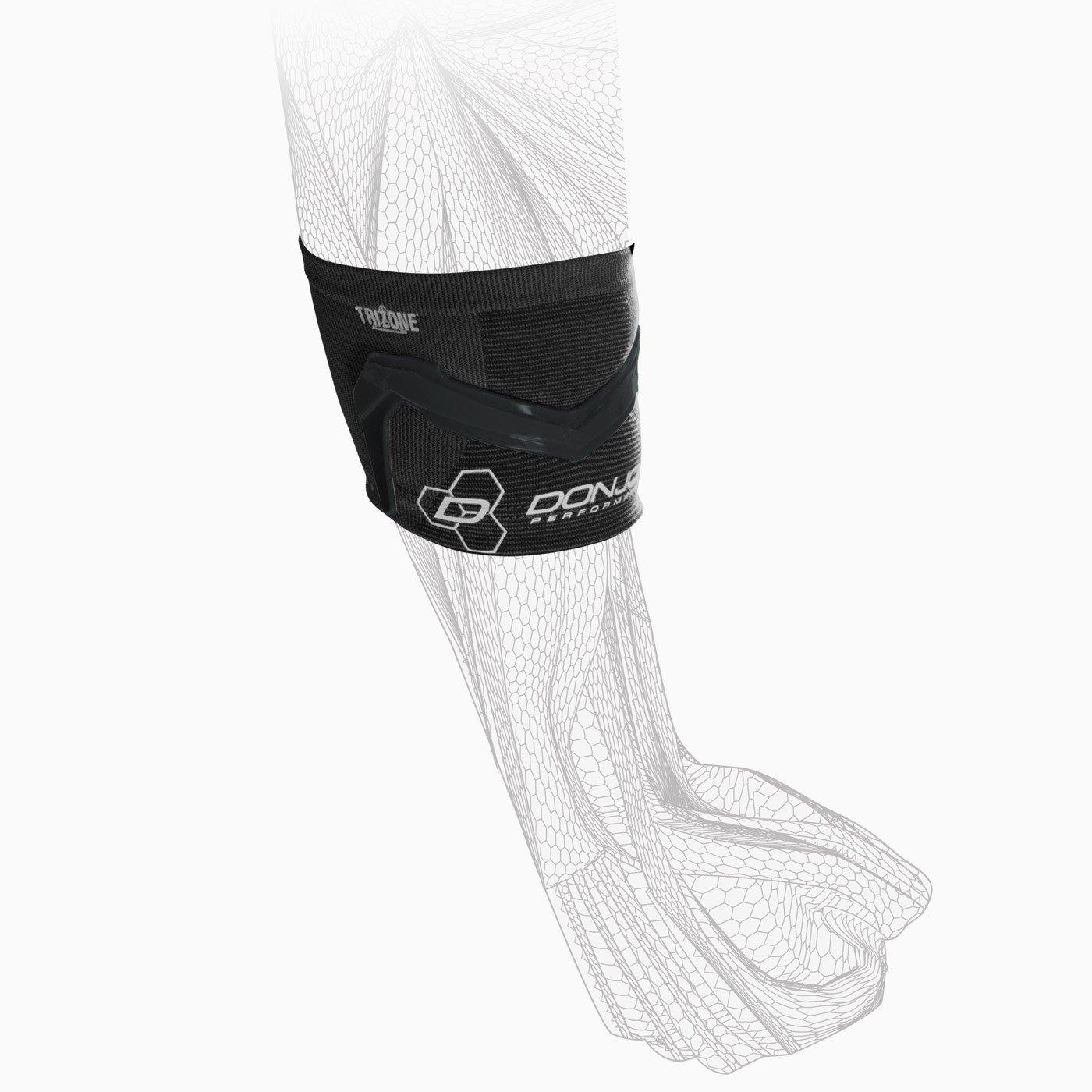 DonJoy Performance TRIZONE Compression Sleeve: Tennis/Golfers Elbow Support, Black, Medium by DonJoy Performance