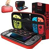 ORZLY® Funda de para Transportar la Nintendo Switch – Rojo Funda Dura de Viaje para Llevar la Nintendo Switch y Sus Accesorio