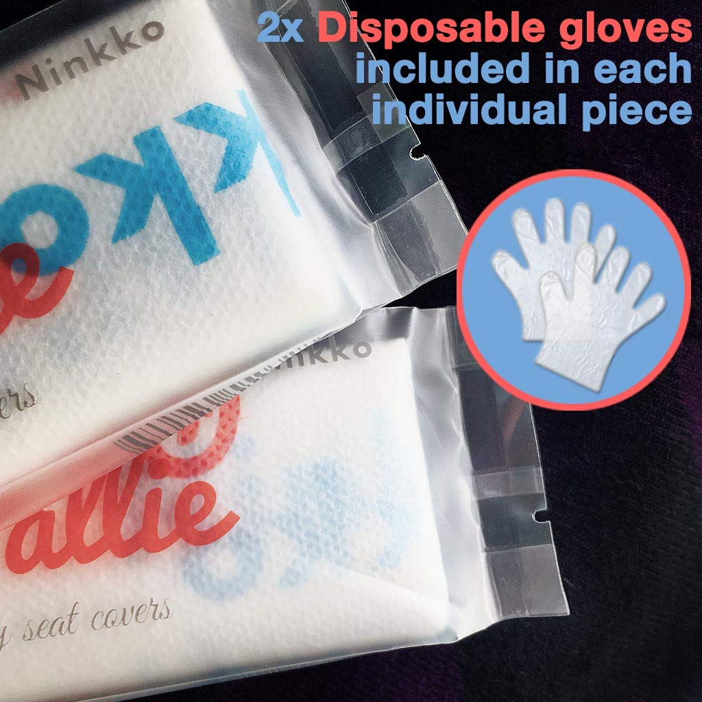 Pottie Pallie Premium Quality Disposable Toilet Seat Covers (w Bonus Zip Bag+Gloves) Individually Wrapped X Large & Thick Non-Slip Waterproof Adult Hygiene Potty Shields (20pcs) by Ninkko by Ninkko (Image #7)