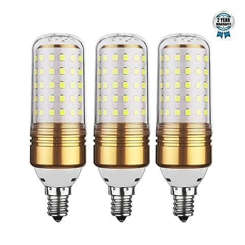 15W LED Corn Bulb, E12 LED Chandelier Bulb, 100W Equivalent LED ...