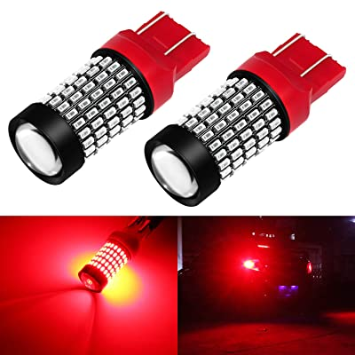Phinlion Super Bright 7440 7443 Red LED Brake Tail Light Bulbs 2800 Lumen 3014 103-SMD 7441 7444 7443 LED Bulb for Tail Stop Brake Turn Signal Blinker Lights: Automotive