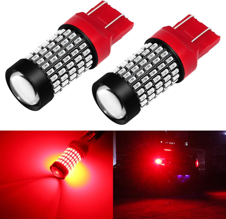 Phinlion Super Bright 7440 7443 Red LED Brake Tail Light Bulbs 2800 Lumen 3014 103-SMD 7441 7444 7443 LED Bulb for Tail Stop Brake Turn Signal Blinker Lights