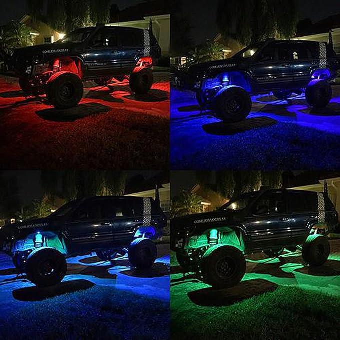 Kail 9/W 4/cialde kit luce neon a LED multicolore RGB LED Rock luci con la funzione Bluetooth controller Music Mode
